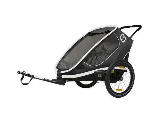 Hamax Outback Twin (Incl. Bicycle Arm & Stroller Wheel) Reclining Grey