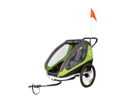 Hamax Traveller (Incl. Bicycle Arm & Stroller Wheel) Green/Grey
